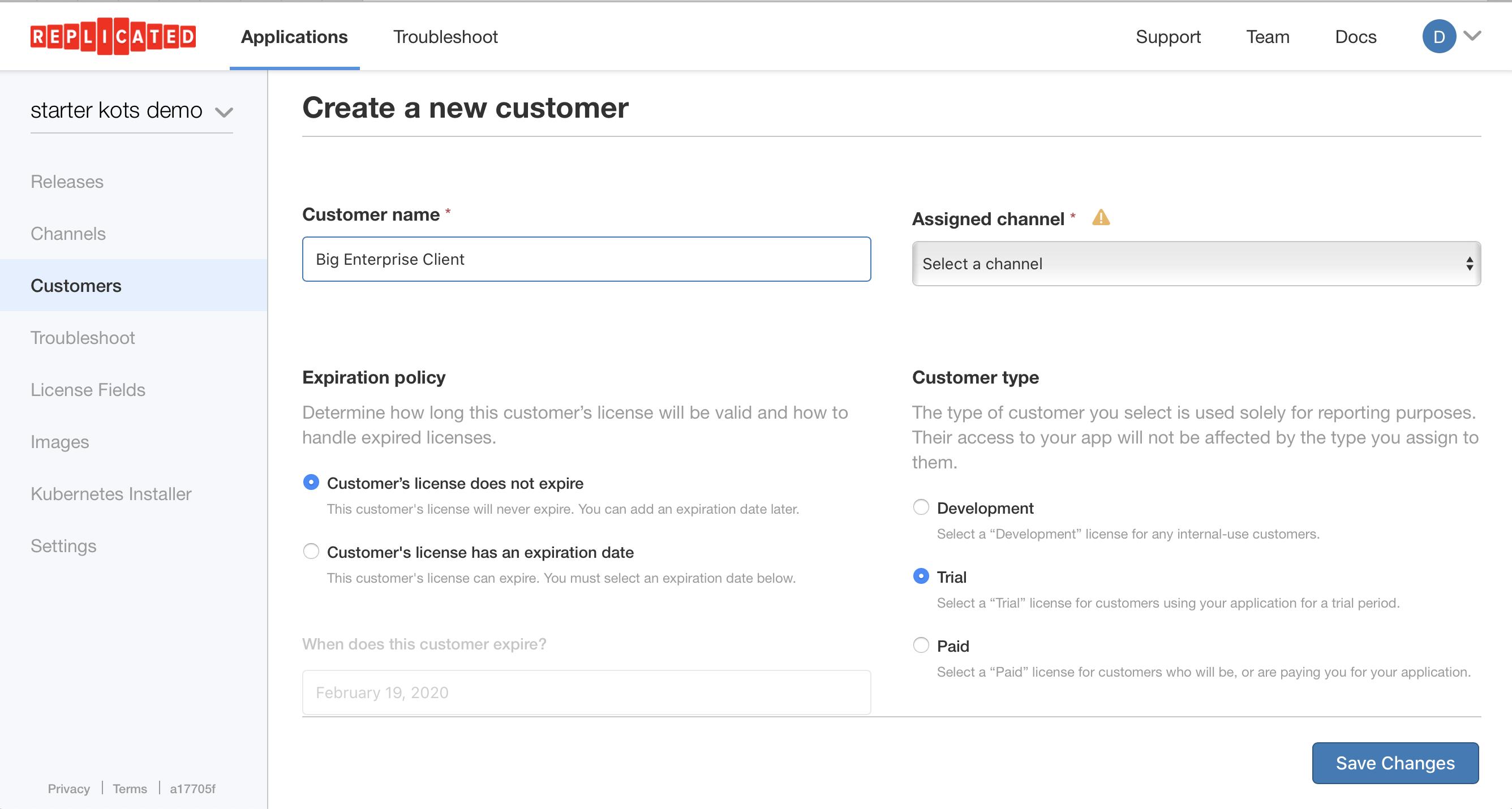 Create Customer