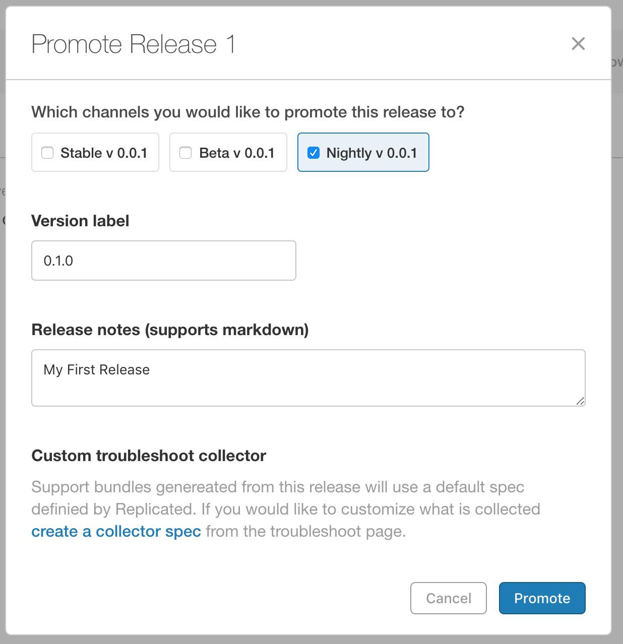 Promote Release