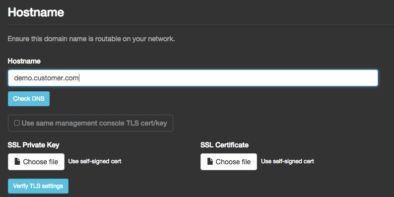 Config Screen TLS