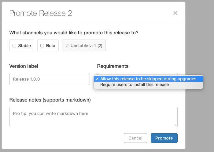 Required Release