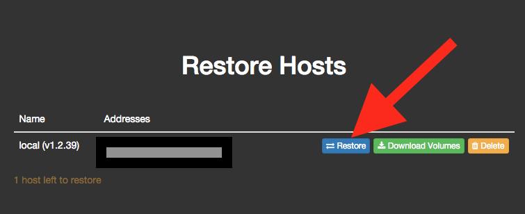 Restore Hosts