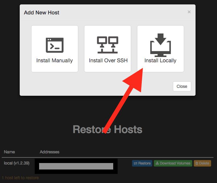Restore Local Host