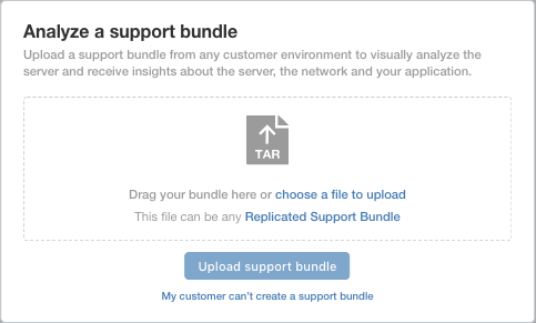Upload Support Bundle